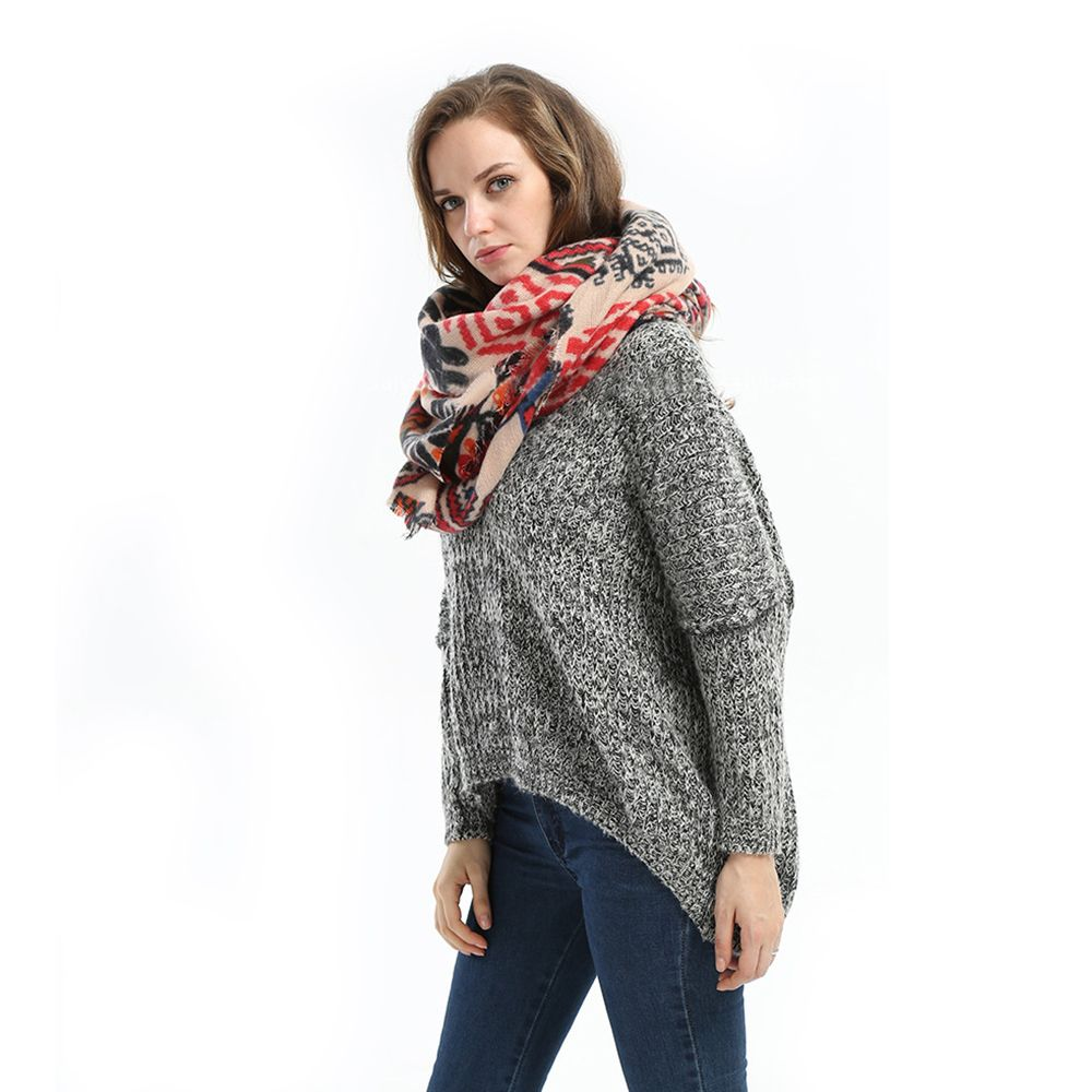 2016 Autumn Winter New Arrival Female High Quality Long Lightweight Acrylic Scarf  Shawl Dual-use