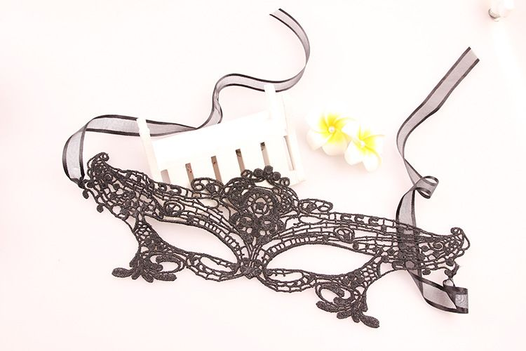 Upper 1/2 Face Goddess Black Lace Carnival Masquerade Hollow Out Masks