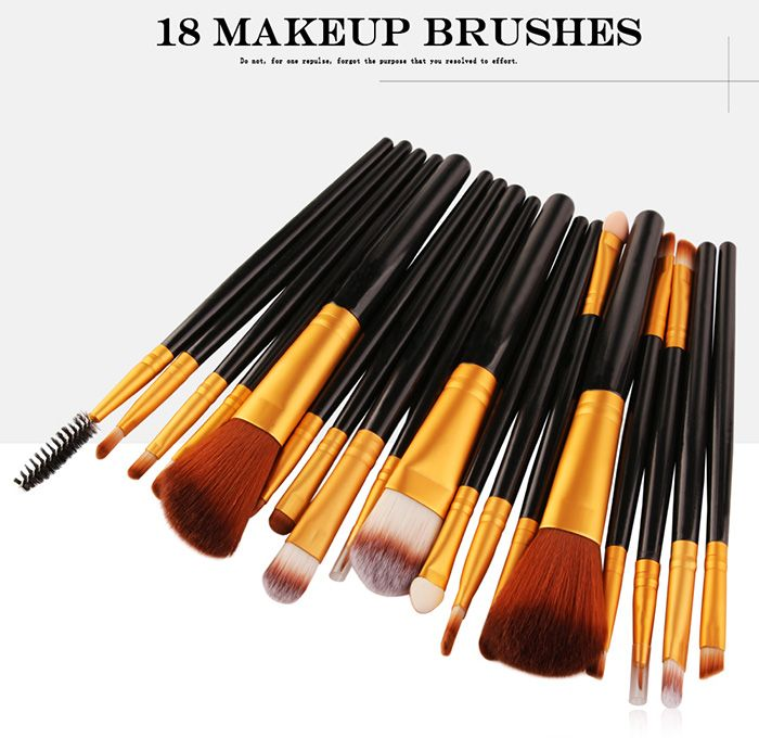 18Pcs Multifunctional Facial Makeup Brushes Set