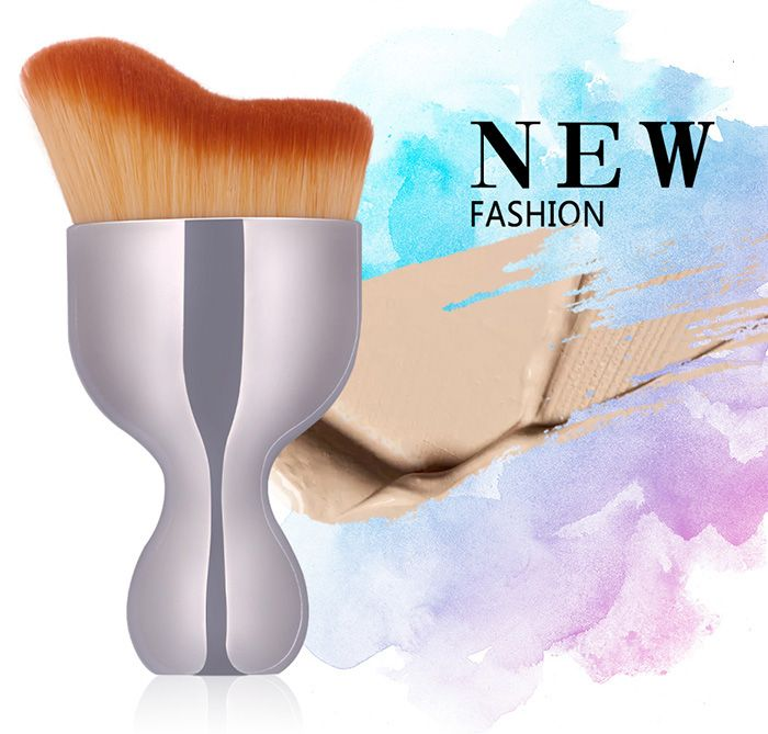 Oblate Wine Glass Shape Makeup Foundation Brush