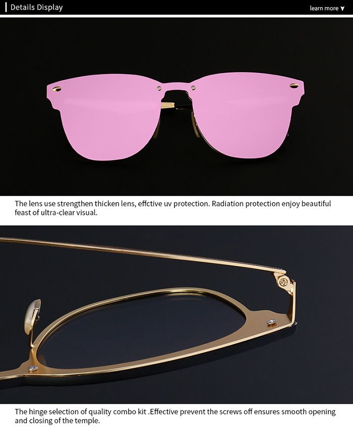 Mirror Metallic Wayfarer Sunglasses