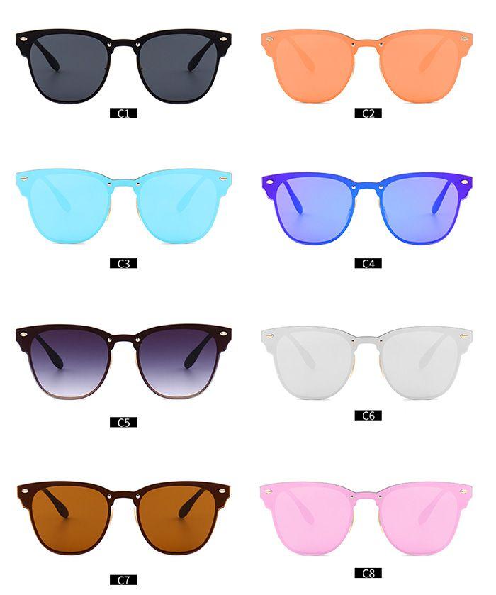 Mirror Metallic Wayfarer Sunglasses