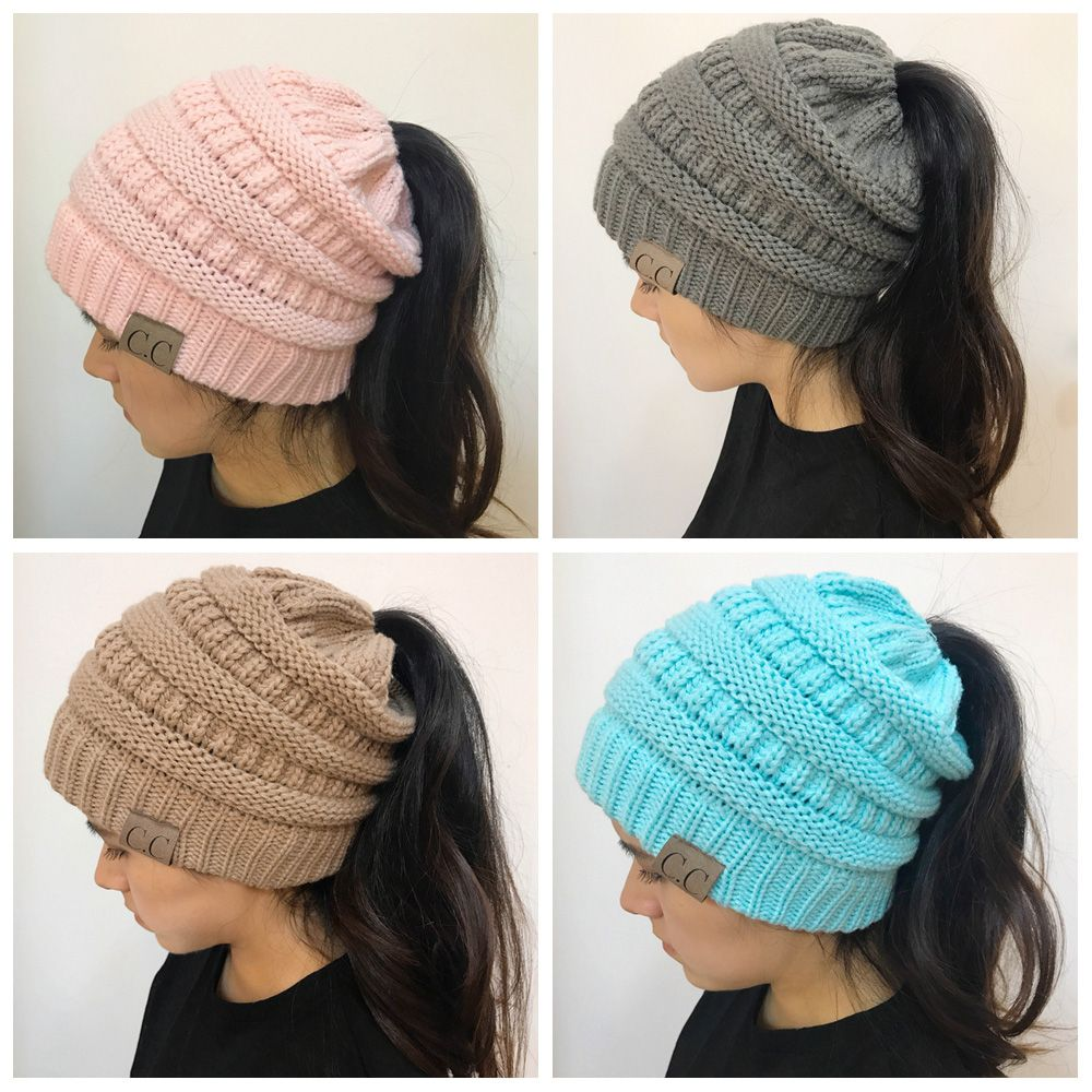 Open Top Mixcolour Knitted Hat