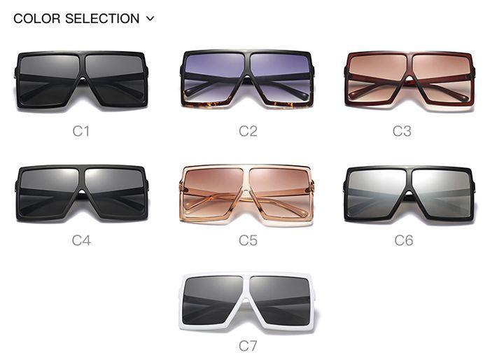 Oversized Square Full Frame Sunglasses