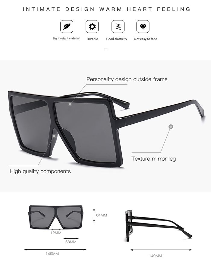 Oversized Square Full Frame Sunglasses