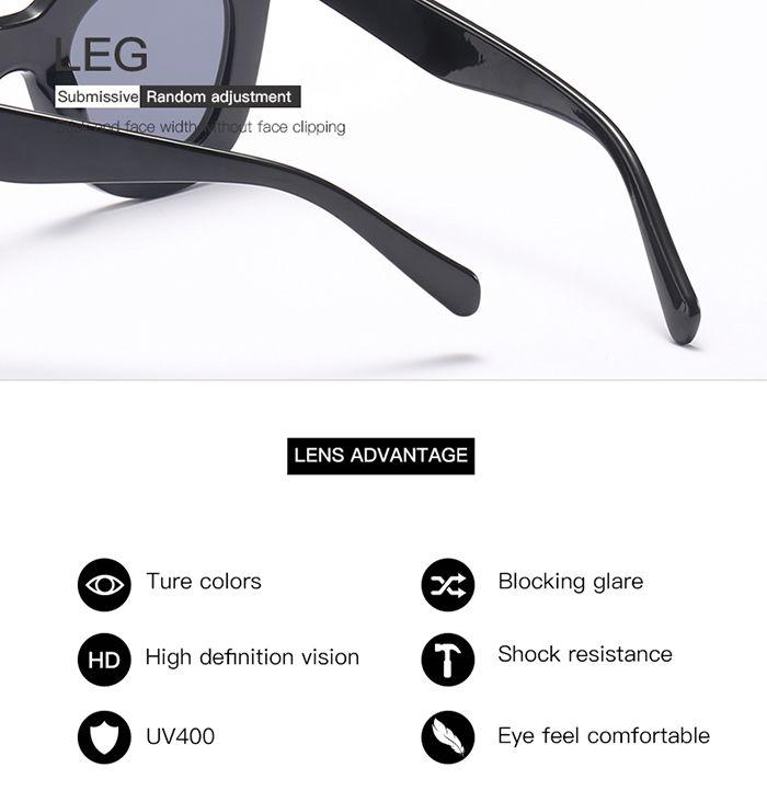 Chunky Full Frame Design Plastic Sunglasses