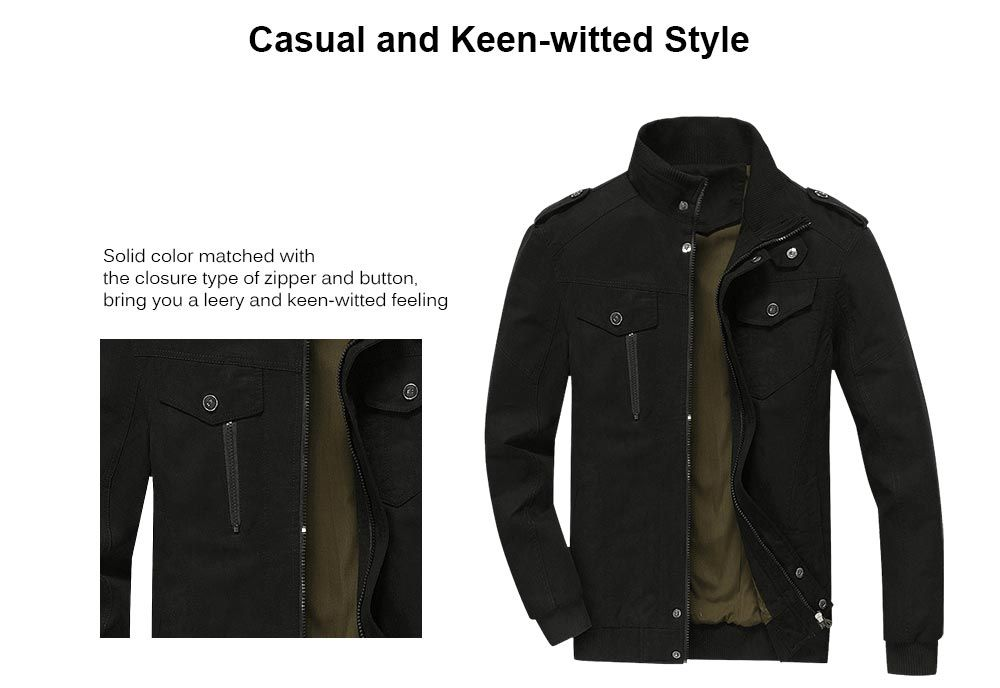 Mens Cotton Zip Up Jacket