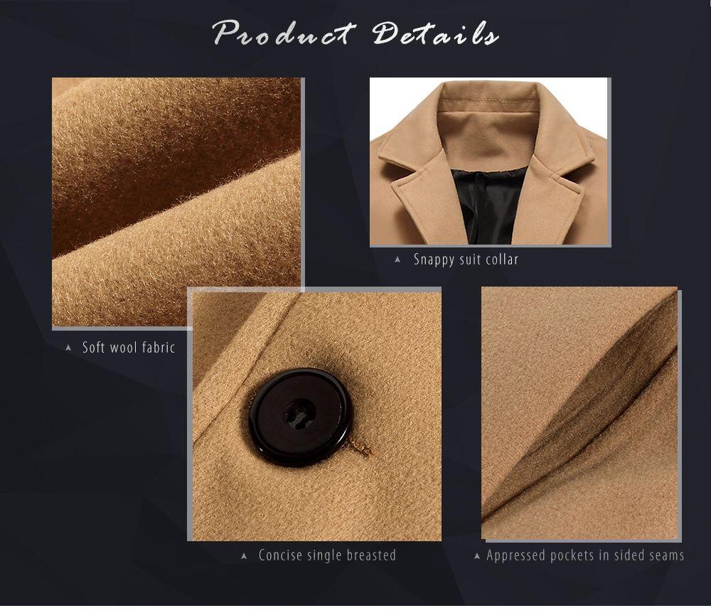 Single Breasted Longline Woolen Coat