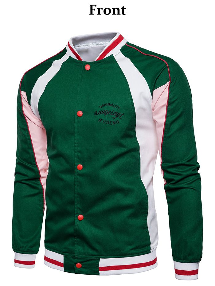 Embroidered Graphic Baseball Jacket