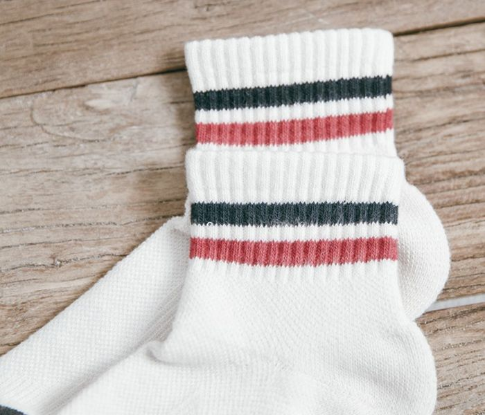 Retro Two Stripes Anklet Socks