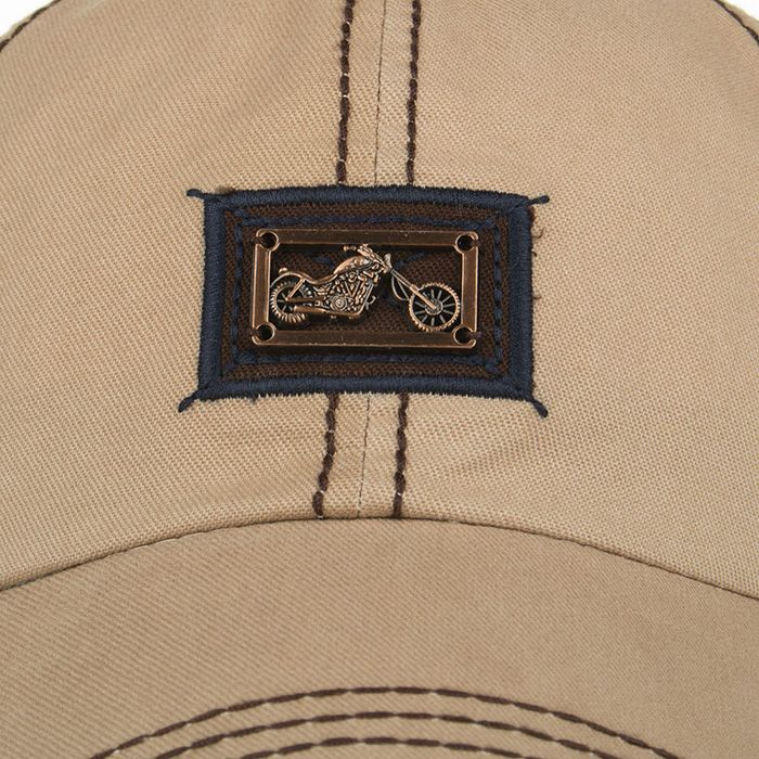 Motorcycle Metal Bar Embellished Baseball Hat