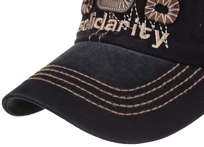 Unique Solidarity Embroidery Adjustable Baseball Hat