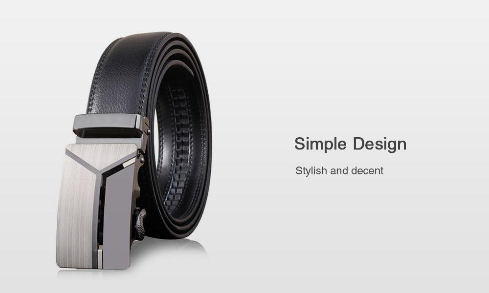 Stylish Polished 3D Y Shape Automatic Buckle Wide Belt