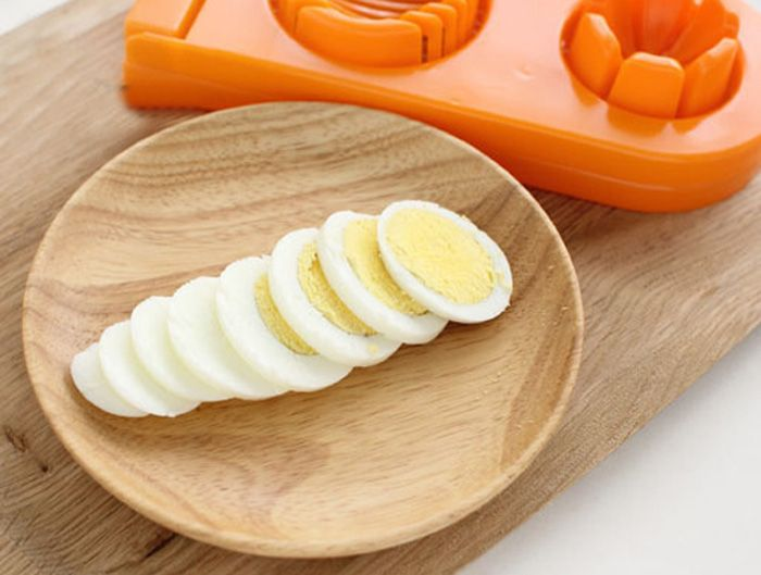 2 in 1 ABS Boiled Egg Cutter Mold Multi-functional Eggshell Chopper Kitchen Gadget