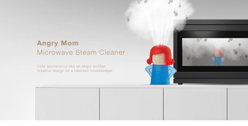 Creative Cute Angry Mom Rubber Microwave Steam Cleaner Kitchen Supplies
