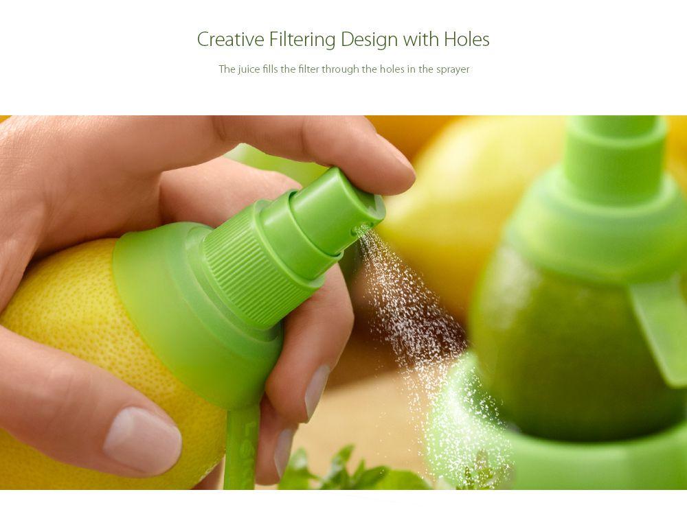 2PCS Multi-functional Citrus Sprayer Manual Lemon Fruit Juice Squeezer Reamer Tools