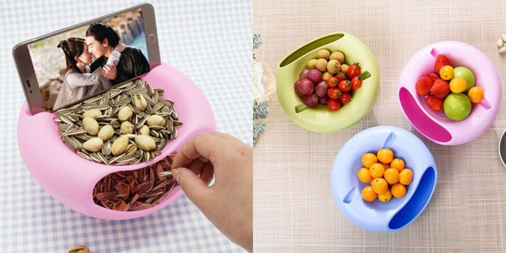 Bilayer Snacks Melon Seeds Convenient Storage Box