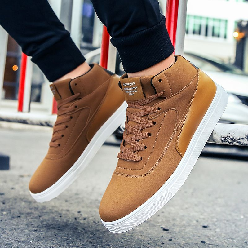 Autumn High Vamp Leisure Flat Shoes